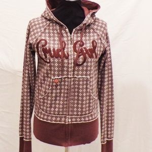 Cruel Girl Brown and White Hoodie